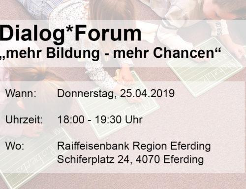 Veranstaltung: Dialog*Forum Bildung