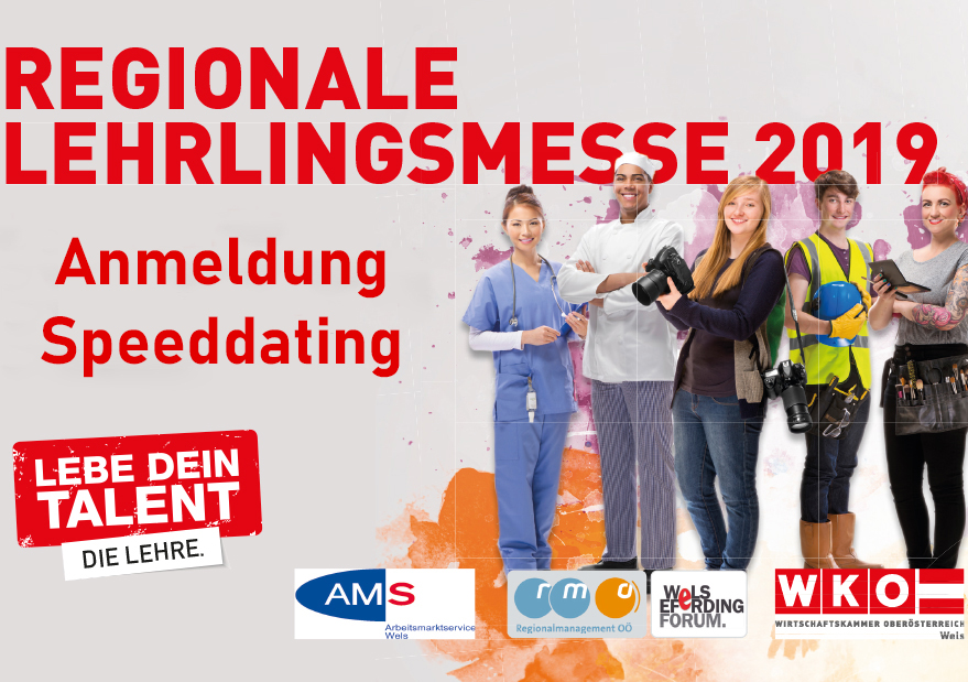 Speed-Dating fr Lehrlinge bei Messe in Wels - huggology.com