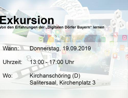 "TERMINAVISO Exkursion ""Digitale Dörfer Bayern"""