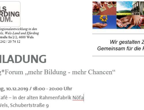 """Dialog*Forum """"mehr Bildung – mehr Chancen"""""""