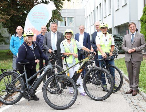 Klinikum Wels-Grieskirchen nimmt 25 Jobräder in Betrieb